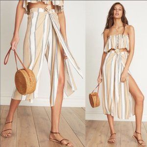 NWOT Faithfull the brand striped two piece set
